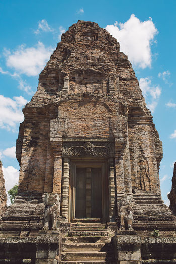 Siem Reap Cambodia Angkor Architecture Built Structure History The Past Sky Cloud - Sky Low Angle View Building Building Exterior Religion Travel Destinations Place Of Worship Belief No People Nature Travel Day Tourism Ancient Ancient Civilization Ornate Archaeology