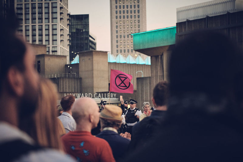 Extinction Rebellion London - Day 7 of Protests on Waterloo Bridge Extinction Rebellion Climate Change Protest Climate Change Streetphotography Street Photography People People Photography Group Of People City Architecture Crowd Large Group Of People Building Exterior Built Structure Women Men Adult Communication City Life Street Real People Selective Focus Sign Walking Road Building