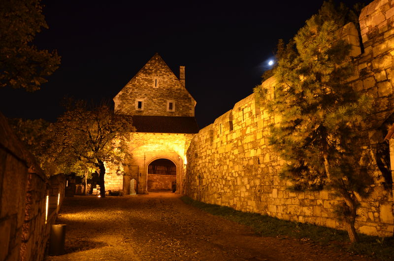Architecture Budapest Castle Castle Church Historic History Night Old Rock Wall Stone Wall Tourism