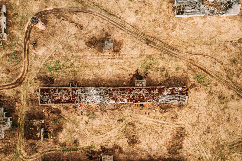 Aerial view of built structure outdoors