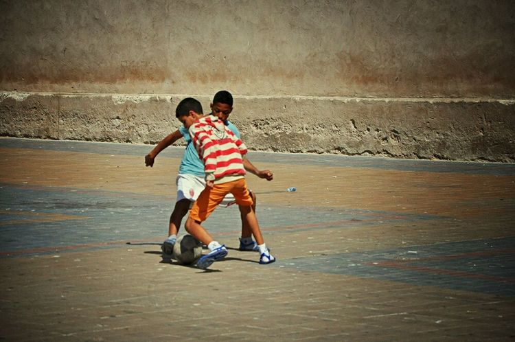 Youth Of Today Childsplay Football Is Life Football Life Football Boys Playtime - Essaouira Morocco