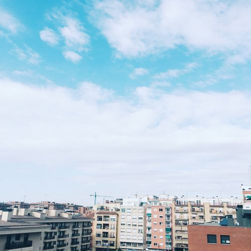 Roofs in Tarragona, Spain Architecture Building Exterior Built Structure Sky Residential Building Cloud - Sky Day No People Outdoors City Cityscape Nature Tarragona Catalonia Roofs Blank Blank Space Empty Sky Blue Urban City Skyline Copy Space Copyspace
