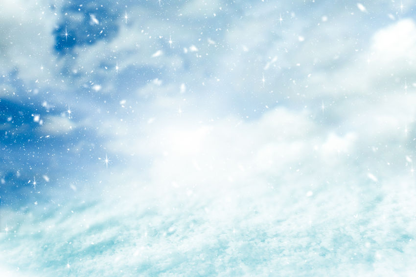 Winter background and snowfall with glitter concept. Merry Christmas and Happy new year backdrop. Beauty In Nature Nature Sky Backgrounds White Color Snow Cloud - Sky Day No People Tranquility Scenics - Nature Cold Temperature Winter Outdoors Snowing Blue Snowflake Sunlight Bright Abstract Backgrounds Softness Christmas Morning Winter Snowfall