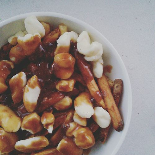 Homemade Poutine - an original Canadian recipe Cheese! Poutine Frenchfries Canada Canadian First Eyeem Photo