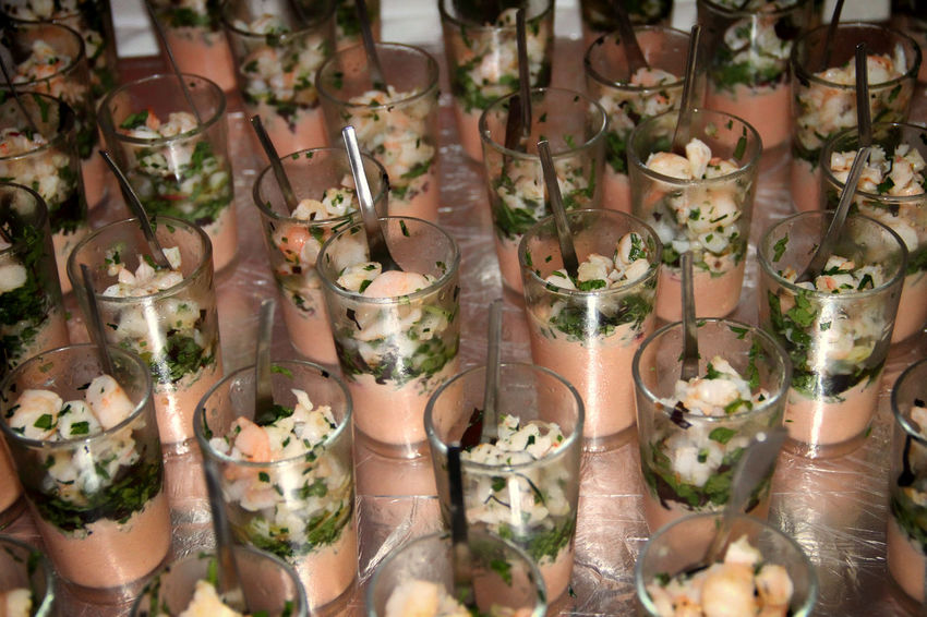 Abundance Arrangement Basilic Collection Cups Dinner Dinner Time Food Food Photography Foodphotography French Food Freshness Full Frame Glasses High Angle View In A Row Indoors  Pistou Prawns Presentation Reception Retail  Tarama
