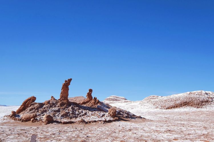 Valley of the Moon Desert Nature Outdoors Day No People Arid Climate Sand Rock Travel Destinations Clear Sky Empty Places Lonely Landscape at San Pedro De Atacama , Chile