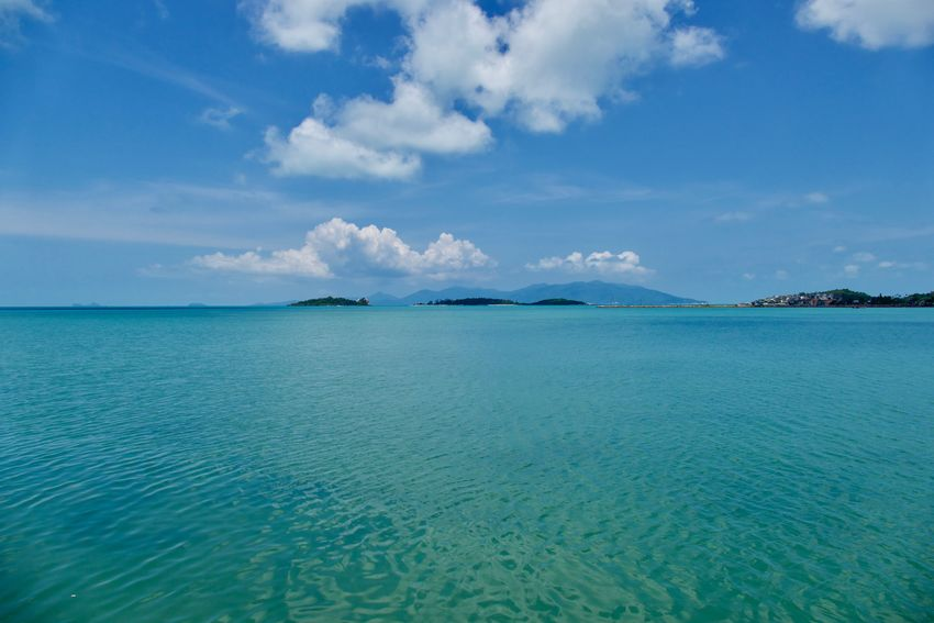 sea and sky at the Gulf of Siam, Thailand Coastline Beauty In Nature Blue Clody Sky Cloud - Sky Day Horizon Over Water Idyllic Land Nature No People Scenics - Nature Sea Sea And Sky Sea View Seascape Seaside Sky Thailand_allshots Tranquil Scene Tranquility Travel Destinations Turquoise Colored Water Waterfront