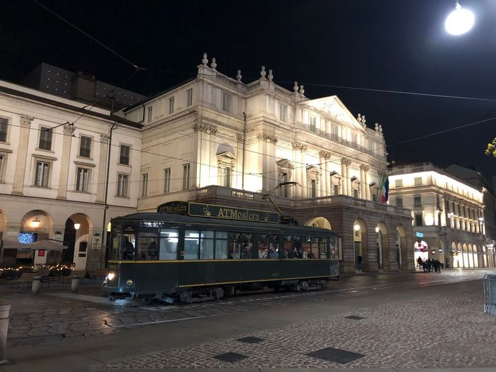 Scala Theater Milanocity Architecture Night Building Exterior Built Structure Illuminated Sky Outdoors No People City