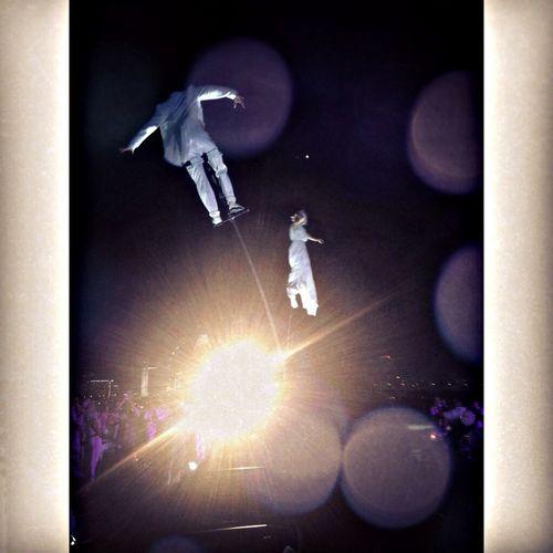 Dance up in the air ~ aerial acrobatic performance @diner en blanc Dinerenblancsg Acrobatics  Aerial