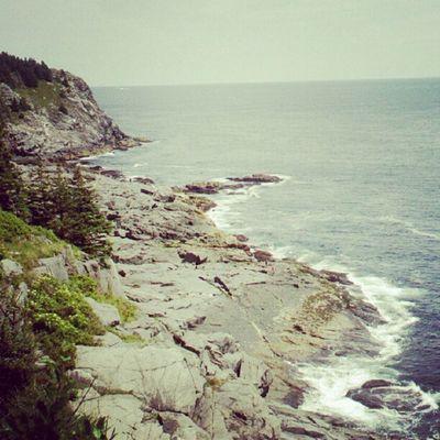 Monhegan Island Maine Overcast Gray Cliff Coast Rocky