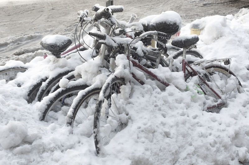 Beauty In Nature Bike Cold Cold Temperature Covering Day Field Frozen Landscape Nature No People Non-urban Scene Outdoors Scenics Season  Snow Snow Covered Tranquil Scene Tranquility Weather White White Color Winter