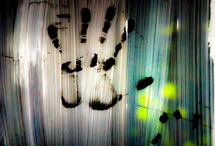 Hand print Print Wall Close-up Day Glass Hand Hand Print No People Paint Transfer Print Transparent Vitre The Creative - 2018 EyeEm Awards
