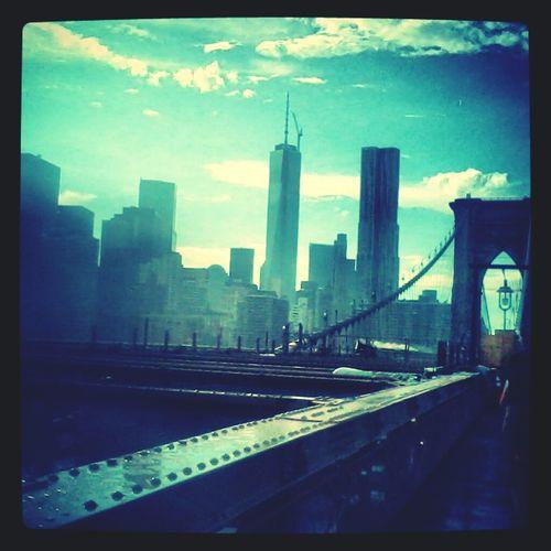 Brooklynbridge Clouds Over Manhattan Swag Newyorkcity
