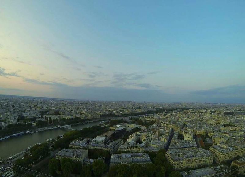 Paris France View From Eiffel Tower Urban