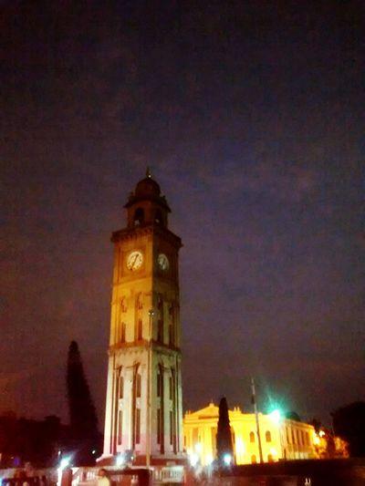 Tower Clock Tower Mysore, India mysore Mysore Palace Kempu Toweroflight Towers And Sky Blue Sky And Clouds