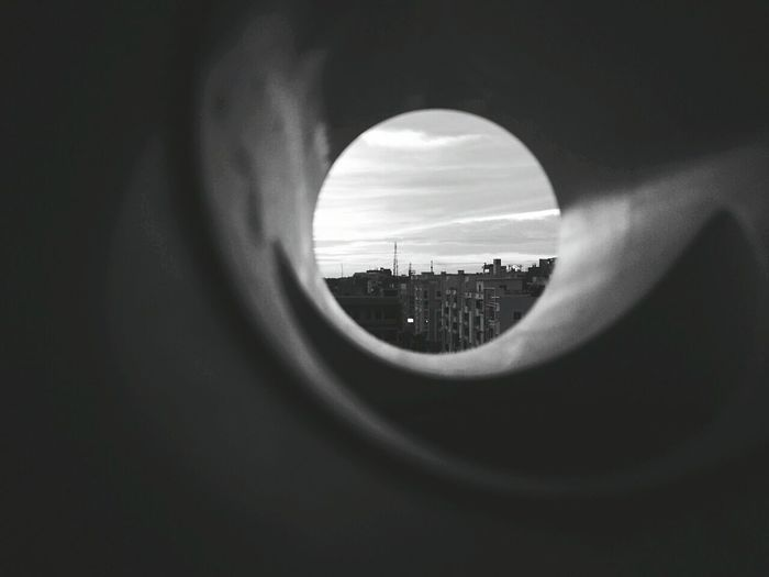 City Cityscape Sunset No People Modern Sky Through My Eyes Through My Lens Through The Looking Glass Through The Windows Of My Mind Panoramic Views A Hole To Another World? Windowsaroundtheworld First Thing I See First Pic Outdoors Sky_ Collection Focus Point LittlePlanet Blackandwhitephotography Eyem Best Edits Eyembestshots Bestmoment Tiny Planet CIRCLE Of LIFE