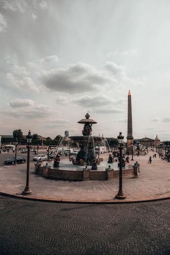 Paris France Paris France Paris ❤ Sky Architecture Cloud - Sky Water Travel Destinations Art And Craft Built Structure History Sculpture Statue Tourism The Past Travel Building Exterior Nature City Representation Human Representation Day Outdoors