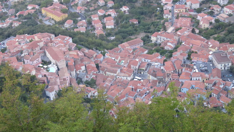 top view of the village of Maratea Architecture Basilicata, Italy  Building Exterior Built Structure Community Crowded Day Human Settlement Landscape Maratea Mountain Nature Outdoors Residential District Residential Structure Scenics Topview Tourist Destination Town Tree