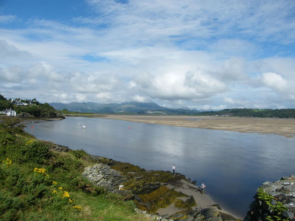 Cloud - Sky Water Landscape Sea Nature Sky Beach High Angle View Tranquility Vacations Scenics Social Issues Outdoors Tree Travel Destinations Grass Summer Day No People Panoramic Borth Y Gest N.wales Port Madog Seaside Low Tide Beauty In Nature