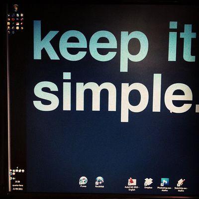 keep it simple.