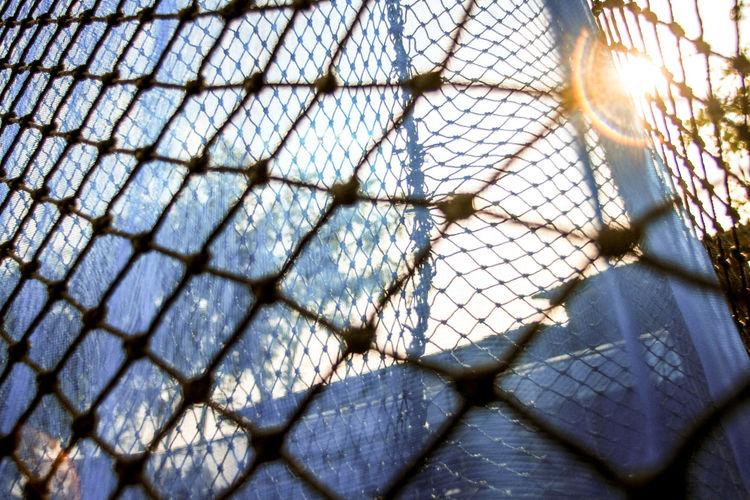 Full Frame Shot Of Netting
