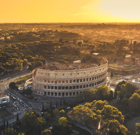 SUNSET ABOVE ROME Architecture Built Structure History Travel Destinations The Past Nature High Angle View City Travel Building Exterior Tourism Sky Sunset No People Ancient Tree Cityscape Outdoors Plant Ancient Civilization Close-up Rome Coliseum