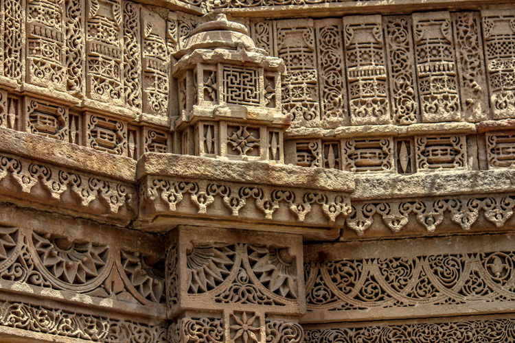 An Indo-Islamic architecture Indoislamic Adalajstepwell Bas Relief Pattern History Place Of Worship Ornate Carving - Craft Product Design Art And Craft Architecture Close-up Architecture And Art Architectural Design Traditional Building Architectural Detail Historic #urbanana: The Urban Playground