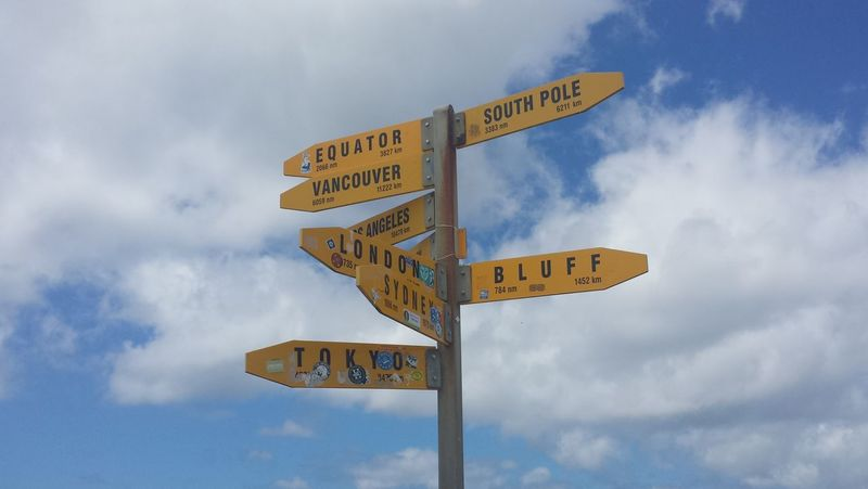 Adventure Adventure Time Cape Reinga Cloudy Coordinate Direction Directional Sign Information Navigation Orientation Outdoors Pole Road Sign Sky Travel Direction Travel Sign Traveling Wander Wanderlust First Eyeem Photo