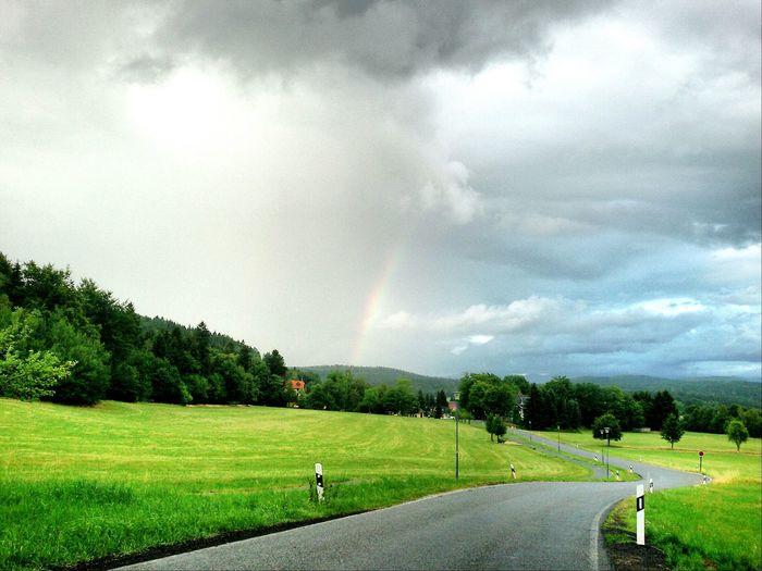 Sky Sky And Clouds Skyporn Rainbow Landscape Nature Landscape_Collection Zittauer Gebirge Naturpark Zittauer Gebirge Lückendorf