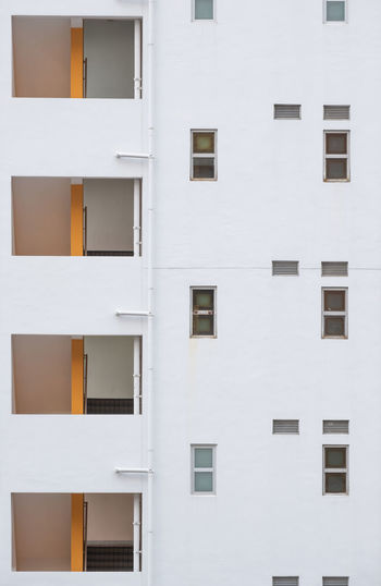 White abstract building architecture