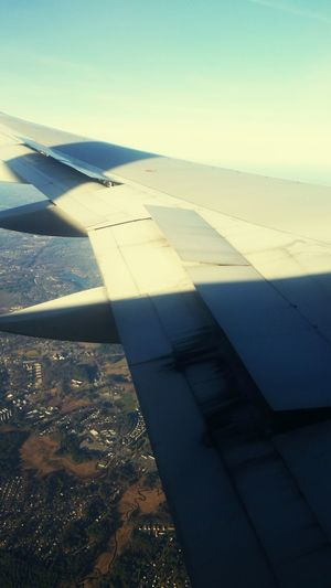 Wing window view on flight to my second home