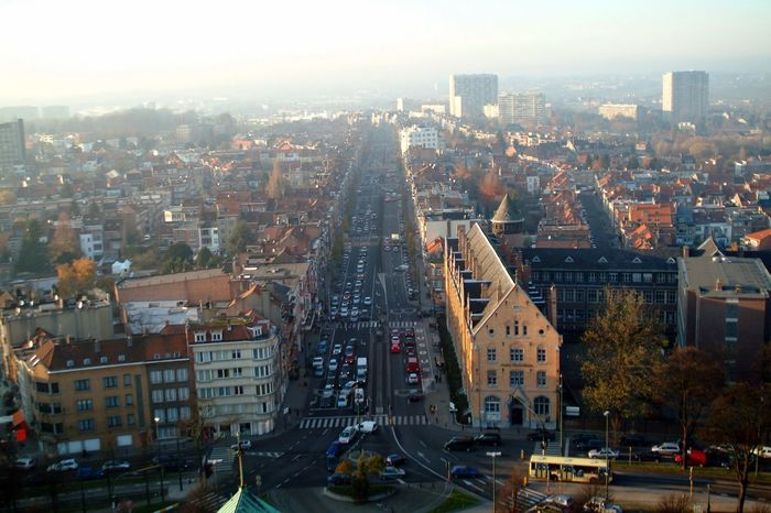 Aerial View Architecture Brussels❤️ Building Exterior Built Structure City City Life Cityscape Day Downtown District High Angle View Koekelberg Basilica No People Outdoors Sky Skyscraper Transportation Travel Destinations