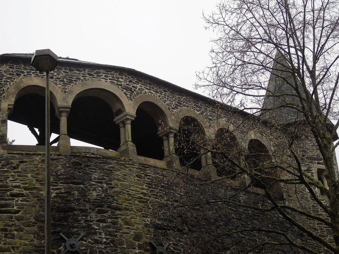 A trip to Solingen Burg on a rainy cold day Architecture Built Structure Cable Railway Castle Handcuff Historic History Illuminant Laterne Mystical Old Ruined Stairs Tree Wooden