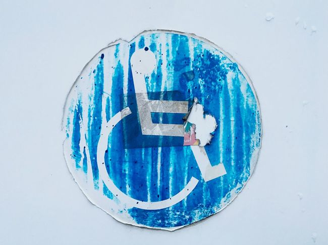 Wheelchair Handicapped Sign Wheelchair Sign Sign Tarnished Worn Out Recovery Rehabilitation