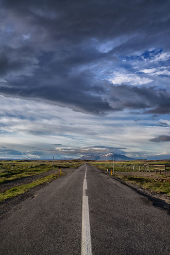 Cloud - Sky Direction Dividing Line Environment Landscape Nature No People Outdoors Road Sky The Way Forward Tranquil Scene Transportation