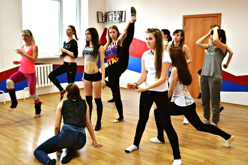 """in any unclear situation do """"flag"""" Dance Dancing Streiching Gymnastics Girls"""