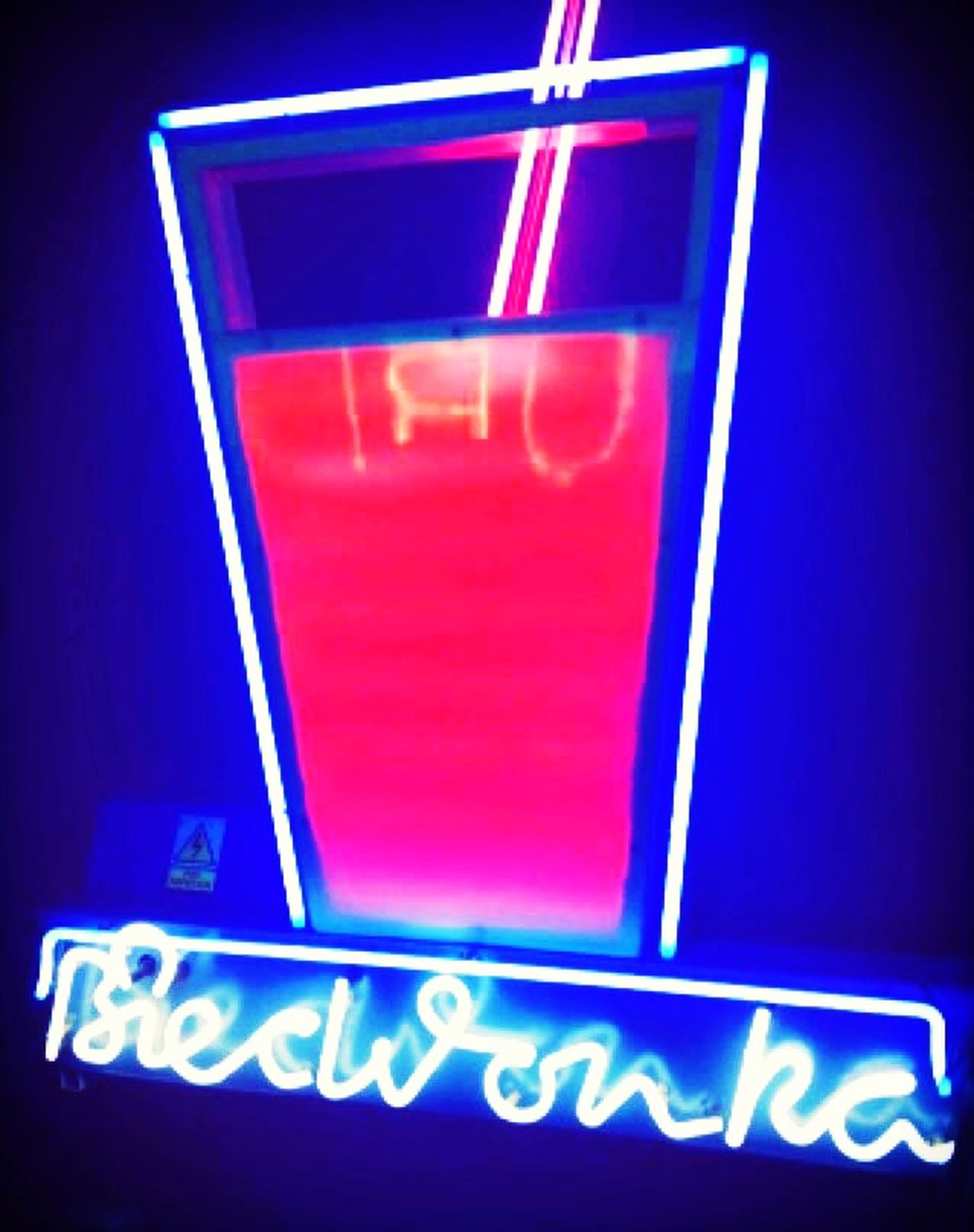 communication, text, western script, indoors, red, close-up, illuminated, capital letter, low angle view, neon, number, sign, guidance, no people, information sign, information, blue, lighting equipment, night, symbol