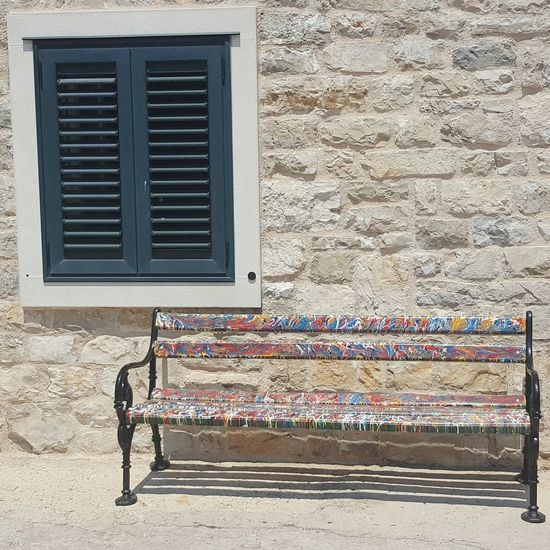 Colourful Croatia Bench Seat Psychedellic Painted Seat Colourful Croatiafulofcolours Tranquility Village Life Croatia Croatiawithlove Colours Of Life Croatia ♡ TakeoverContrast