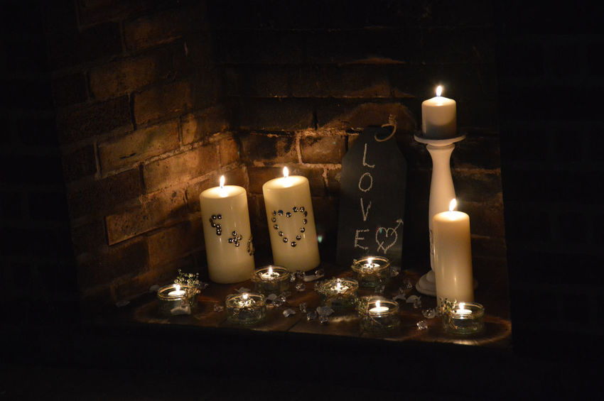 Wedding Decorations Candles Candlelight Love