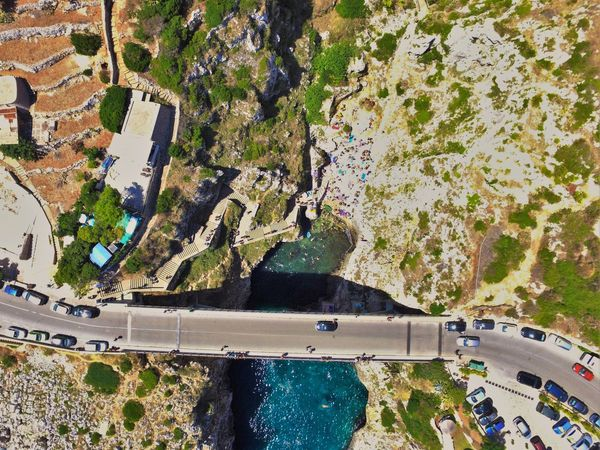 Taken in Castro this summer High Angle View Water Building Exterior Aerial View Nature Road Dronephotography Salento Puglia