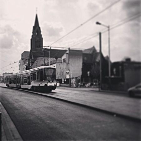 Tramway Suburb Blackandwhite