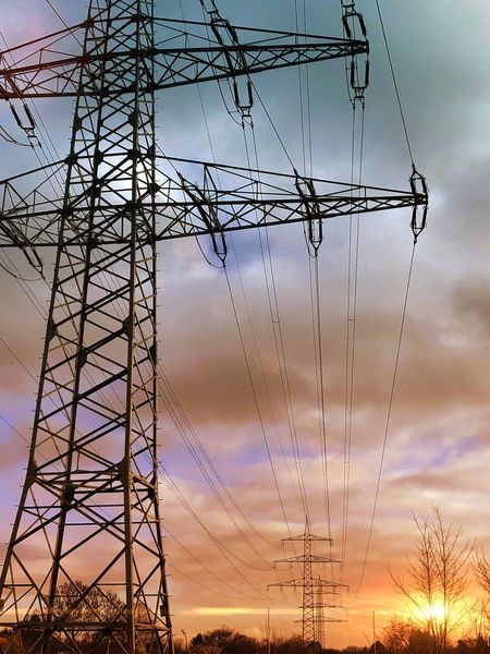 Electricity Pylon Electricity  Cable Sky Connection Low Angle View Power Supply No People Cloud - Sky Fuel And Power Generation Sunset Outdoors Day Technology Landscape Followme