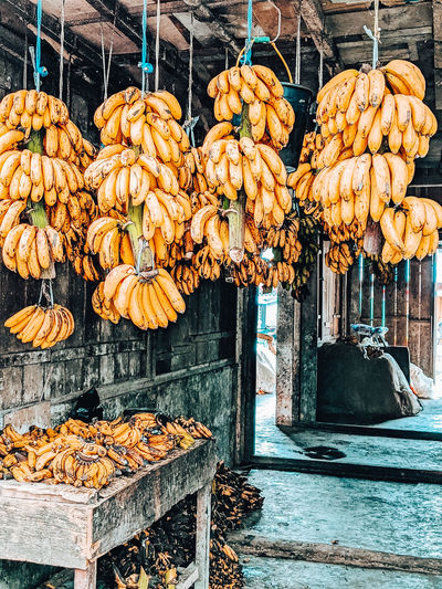View of fruits for sale at market stall