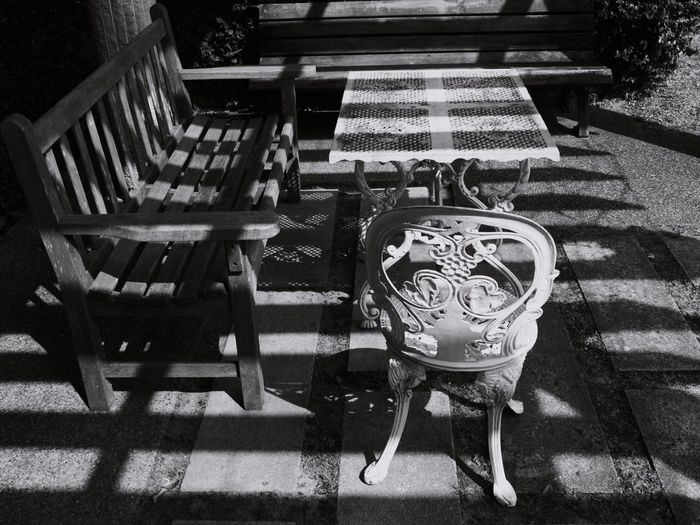 Chair No People Day Outdoors Monochrome Monochrome Photography Black And White モノクロ Blackandwhite EyeEmNewHere