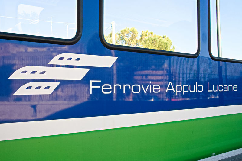 FAL, Ferrovie Appulo Lucane, Italian railway network, trains connecting Bari, Puglia to Matera, Basilicata, via Altamura and Gravina and the park of Murgia Mode Of Transportation Transportation Communication Public Transportation Rail Transportation Sign Train Train - Vehicle Land Vehicle Close-up Outdoors South Italy Bari Matera Capital Of Culture 2019 Apúlia Murgia Park Basilicata, Italy  Puglia Matera2019 New Work In Progress Railway