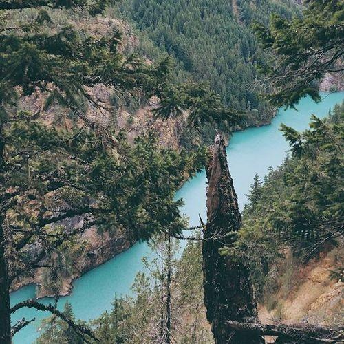 seems like I've subconsciously embarked on a hunt for the brightest colored lake || Hiking Diablolake Rosslake Westcoastbestcoast adventureisoutthere whptexture nature visitwa mountain hike hiker pnwcast livewashington vscobeau
