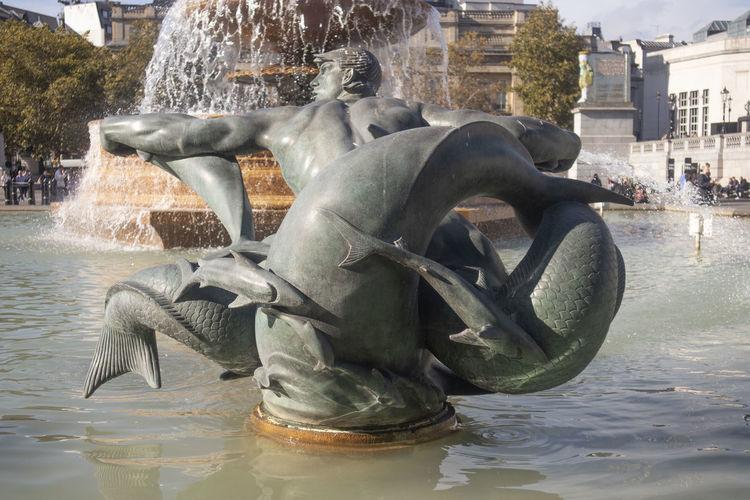 A fountain on