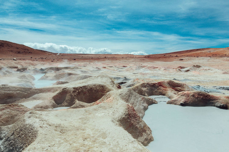 Altiplano Altitude Andes Bolivia Clouds Fog Geothermal  Geyser Landscape Nature Nautre Outdoors Sky Sky And Clouds South America Tranquility Travel Destinations VSCO Vscocam Wanderlust