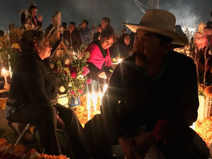 Real People Togetherness Night Celebration Tranquil Scene Beauty In Nature Mexico Dia De Los Muertos DIA DE MUERTOS Flower People Life Is Perfect