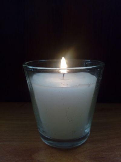 Black Background Burning Candle Close-up Flame Illuminated Night No People Table